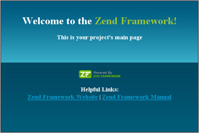 Zend Framewrok Application