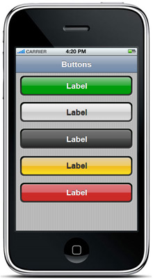iPhone UI Buttons