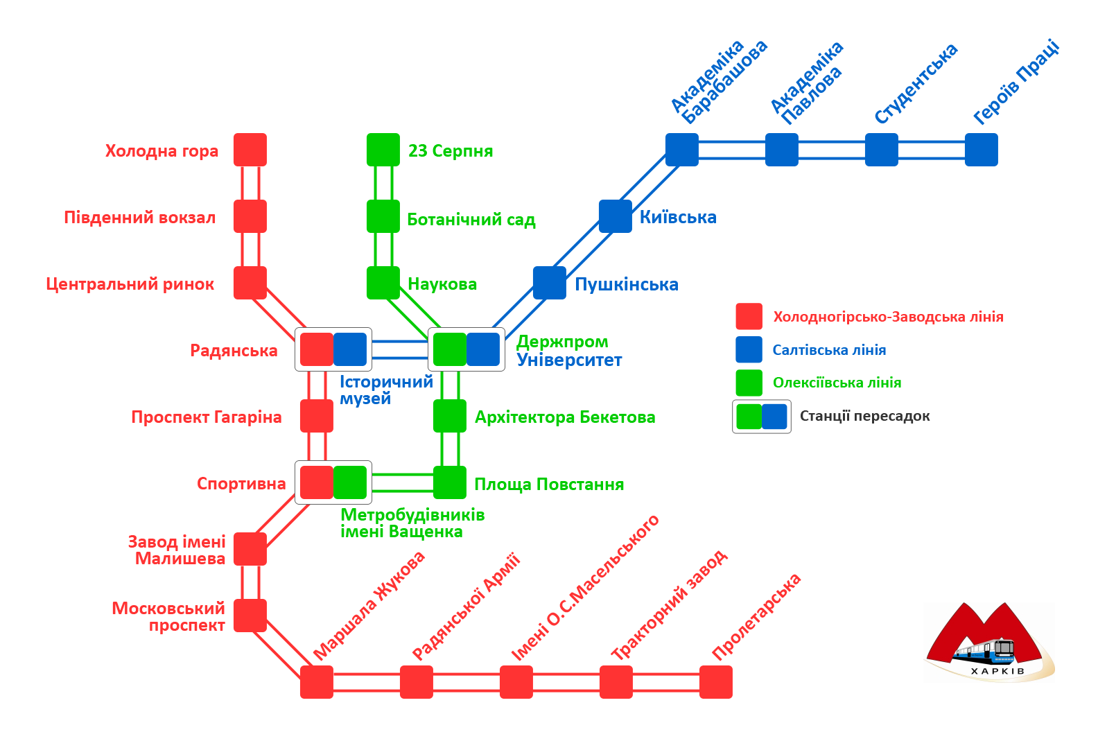 Схема метро харькова с