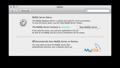 MySQL Control Panel